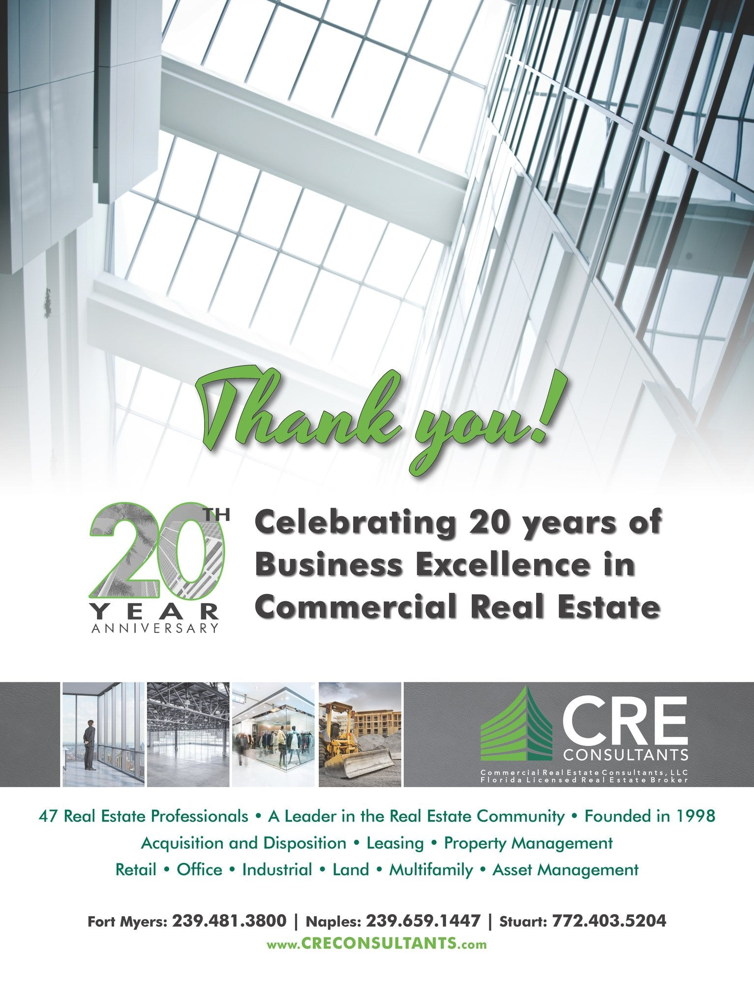 CRE Consultants Celebrates 20 Years in Business - CRE